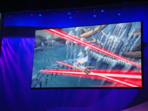 A battle sequence from Kid Icarus: Uprising