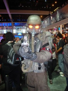 The Killzone 3 armor in full effect.