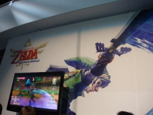 The Legend of Zelda: Skyward Sword area of the Nintendo booth.