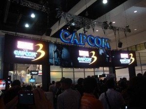 The mighty Capcom booth!