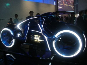 And finally, the best Tron light cycle you'll ever see.