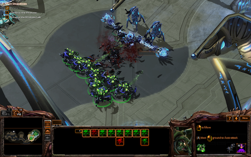 The new Zerg Abomination unit can slug it out with even the toughest ground defenders.
