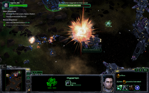 Send Reaper units after space-based enemies to help keep the Hyperion safe in side missions.