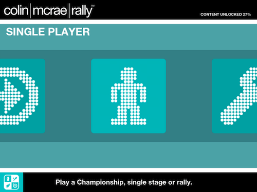 Pay in Championship, Single Stage or Rally modes.