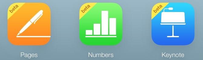 iWork iCloud app icons