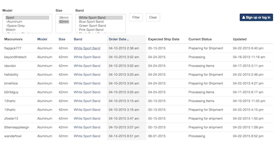 New website crowd-sources Apple Watch order tracking