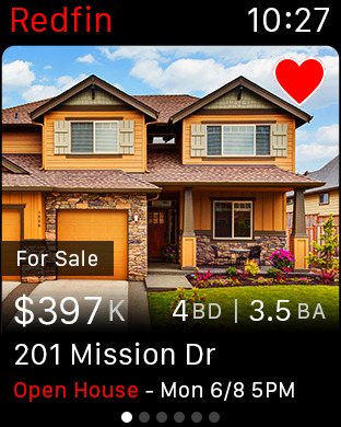 Redfin Apple Watch app