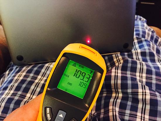My MacBook is a little toasty... 109 degrees - Jason O'Grady