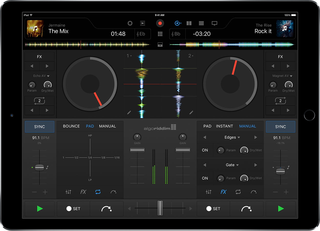 Algoriddim's djay Pro for iPad - Jason O'Grady