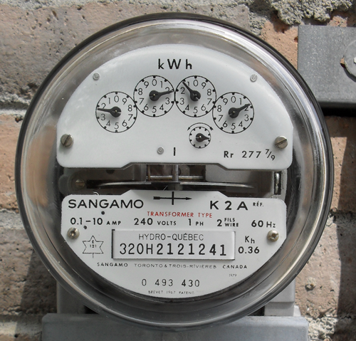 Analog Electric Meter : Monitor your home s electricity usage on iphone