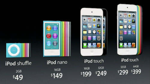 Apple Discontinues Ipod Nano Ipod Shuffle Reduces Ipod Touch Price To 199 O Grady S Powerpage