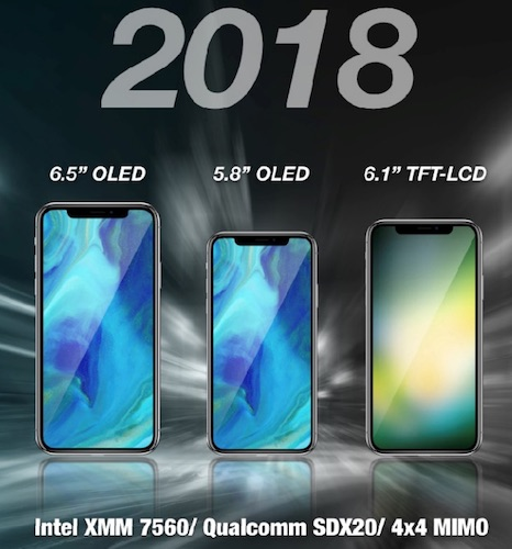 9d50cc0f994941 The rumor mill is churning and it's thought that Apple will release three  iPhones in 2018, including two OLED models and one LCD model that could  feature a ...