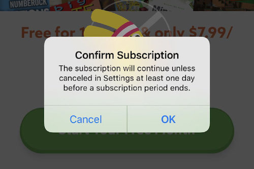 "Apple adds ""Confirm Subscription"" dialog box for apps with in-app"